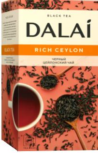 "Чай черный  пакетированный ""Rich Ceylon"", ТМ ""Dalai"" 25 шт.х 1.8г."