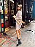 """Вязаное платье мелкие косы """"Галант"""", пряжа Италия.  Размер:S, M. Разные цвета (1061), фото 4"""