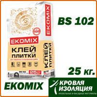 """Смесь EKOMIX """"Клей для плитки"""" BS 102, упаковка 25 кг"""