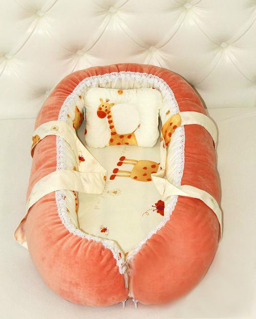Переноска для новорожденной девочки, персиковая