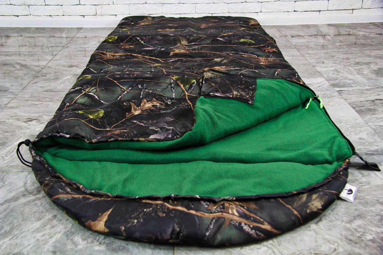 Армейский широкий спальный мешок (до -20) спальник туристический для похода, для холодной погоды!
