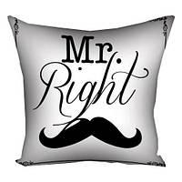 Подушка Mr. Right, 40х40 см