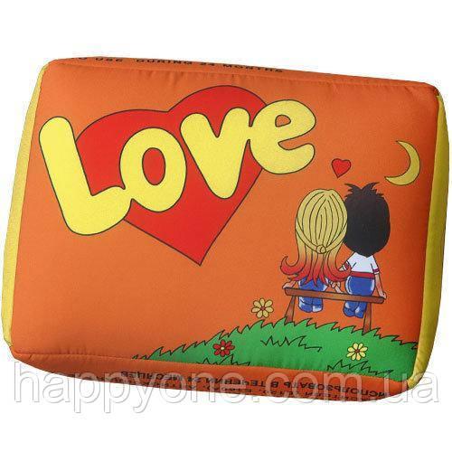 "Подушка ""Lovе..."", оранжевая"