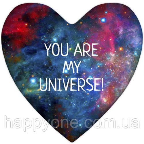 """Подушка сердце """"You are my universe!"""""""
