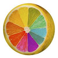 """Подушка круглая """"Радужный лимон"""""""