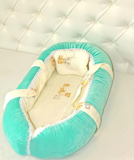 Переноска для новорожденных детей, бирюзовая