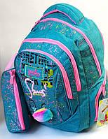 Школьный рюкзак для девочки с пеналом Yelong бирюза