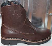 Ботинки коричневые кожаные женские демисезонные от производителя модель СА217-2, фото 1