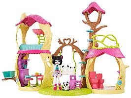 Кукла Enchantimals Энчантималс Лесной домик Панды Дрю Playhouse Panda Set