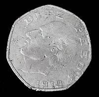 Монета Мексики 10 песо 1978 г.