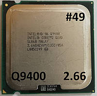 Процессор  ЛОТ #49 Intel® Core™2 Quad Q9400 R0 SLB6B 2.66GHz 6M Cache 1333 MHz FSB Soket 775 Б/У, фото 1