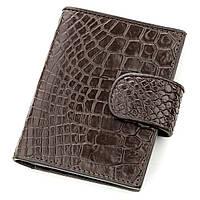Визитница мужсккая Ekzotic Leather из натуральной кожи крокодила Коричневая (st 14)