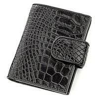 Визитница мужсккая Ekzotic Leather из натуральной кожи крокодила Черная (st 15), фото 1
