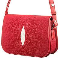 Сумка жіноча Ekzotic Leather з натуральної шкіри морського скату Червона (sb 26)