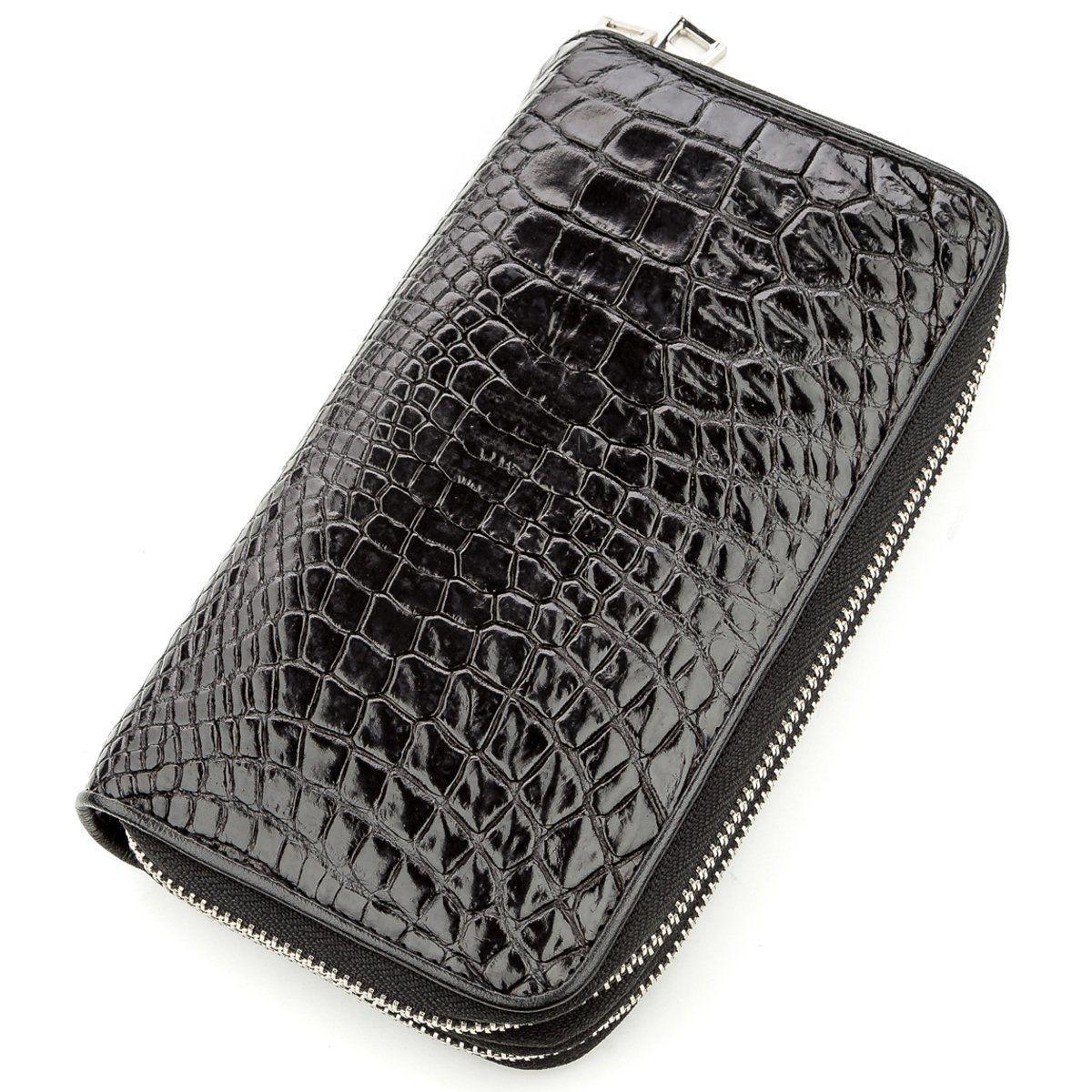 Клатч мужской Ekzotic Leather из натуральной кожи крокодила Черный (cb 25)