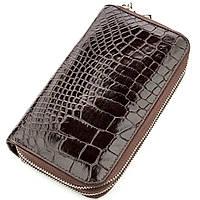 Клатч чоловічий Ekzotic Leather з натуральної шкіри крокодила Коричневий (cb 26), фото 1