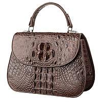 Сумка Ekzotic Leather из натуральной кожи крокодила Коричневая (cb 29), фото 1