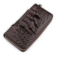 Клатч мужской Ekzotic Leather из натуральной кожи крокодила Коричневый (cb 30), фото 1