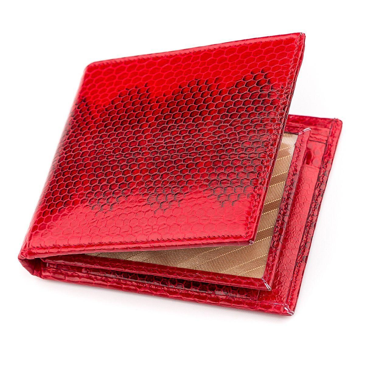 Бумажник женский EkzoticLeather из натуральной кожи морской змеи Красный (snw 72)