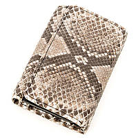 Вертикальний гаманець Ekzotic Leather з натуральної шкіри морського пітона Сірий (stw 146), фото 1