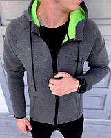 Куртка мужская в стиле Puma grey / ветровка осенне-весенняя, фото 1