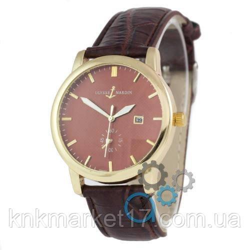 Ulysse Nardin Lelocle Suisse 7141 Brown-Gold