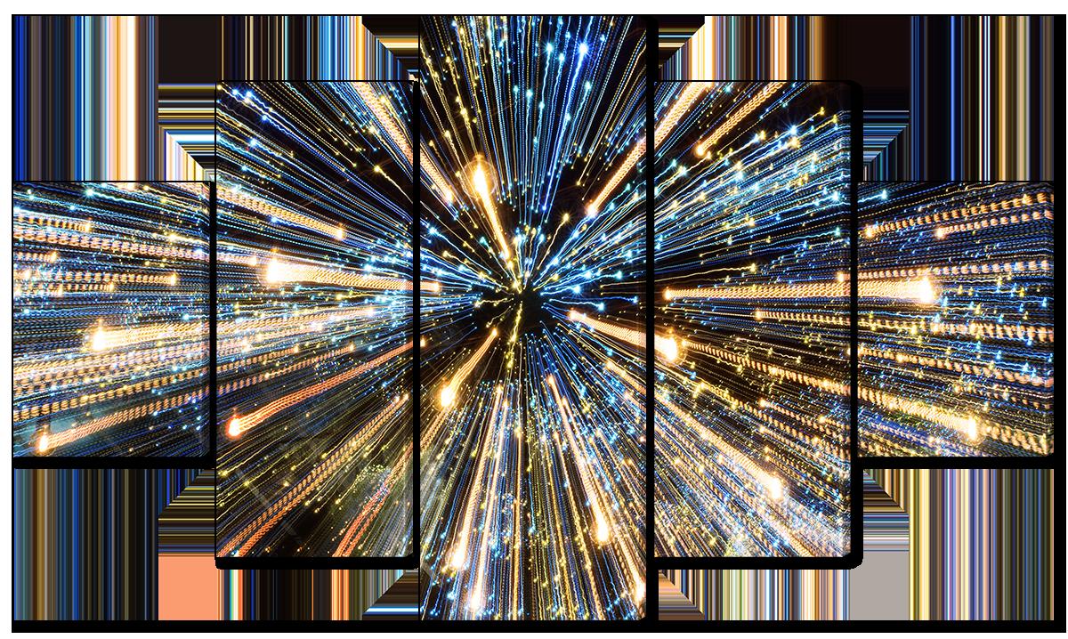 Модульная картина Interno Холст Салюты 108х60см (R1205S)