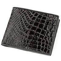 Портмоне Ekzotic Leather из натуральной кожи крокодила Черное (cw 112), фото 1