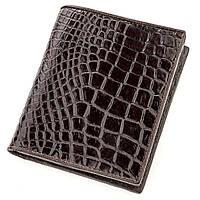 Портмоне Ekzotic Leather из натуральной кожи крокодила Коричневое (cw 113), фото 1