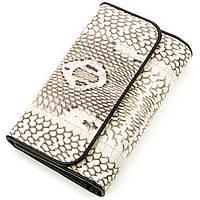 Вертикальный кошелек Ekzotic Leather из натуральной кожи питона Серый (snw 84), фото 1