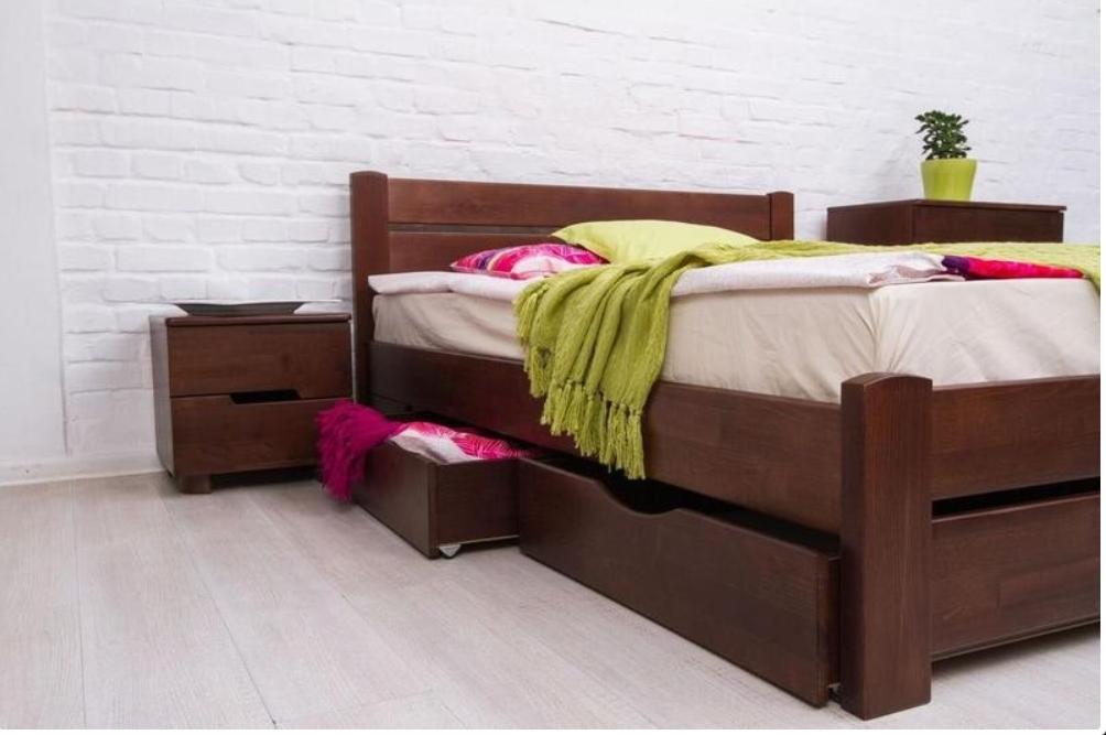 Кровать из массива, двухспальная - Айрис с ящиками1600*2000