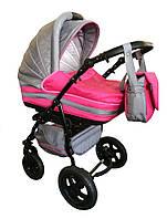 Универсальная коляска Trans baby Mars(39/74) с.серый+я.розовый