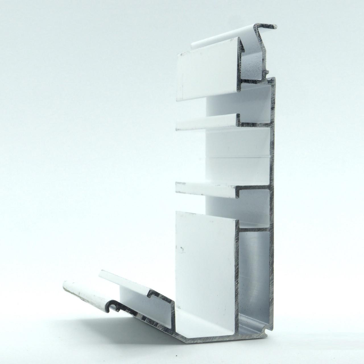 Профиль алюминиевый для натяжных потолков - Гардина двухполосный. Длина профиля 2,5 м.