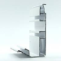 Профиль алюминиевый для натяжных потолков - Гардина двухполосный. Длина профиля 2,5 м., фото 1