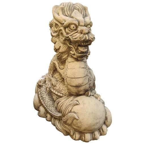 Скульптура керамическая, дракон восточный