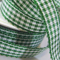 Лента Gingham - Forest Green , 1м/10мм