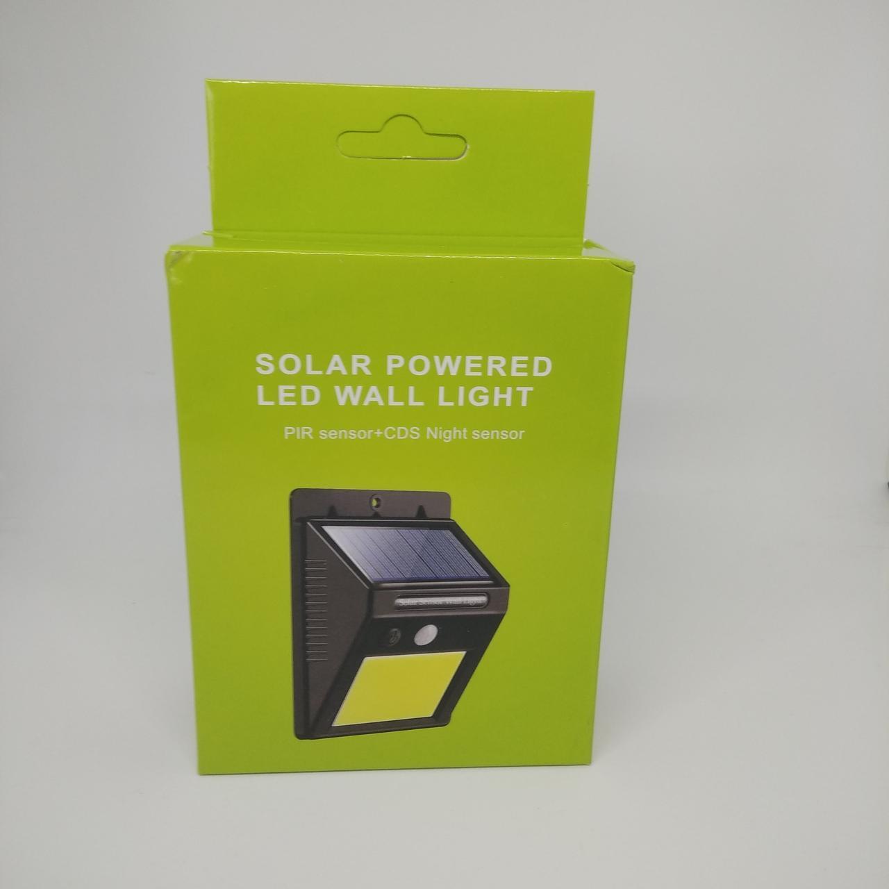 Настенный уличный светильник Solar Motion Sensor Ligh 6 Вт Черный