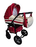 Универсальная коляска Trans baby Mars(9/crem) красный+молоко