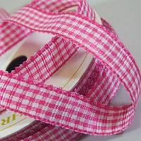 Лента Gingham - Hot Pink , 1м/10мм