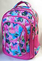 Школьный рюкзак для девочки Frozen малиновый