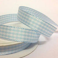 Лента Gingham - Light Blue , 1м/10мм