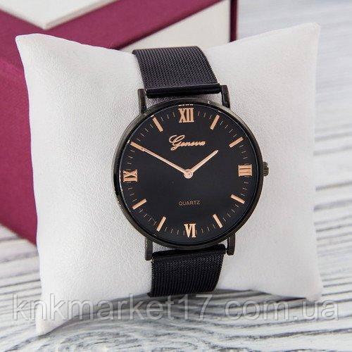 Geneva метал Чорні чорний з рожевим золотом римські