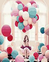"""Картина по номерам """"Посреди воздушных шаров"""" Rainbow Art"""