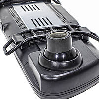 "Зеркало видеорегистратор 10"" Lesko Car K62 для авто ночная съемка камера заднего вида 1080P функция WDR, фото 4"