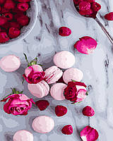 "Картина по номерам ""Макаруны и розы"" Rainbow Art"