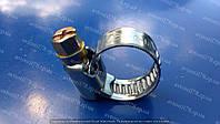 Хомут червячный 10х16 (1штука) нержавеющая сталь, фото 1