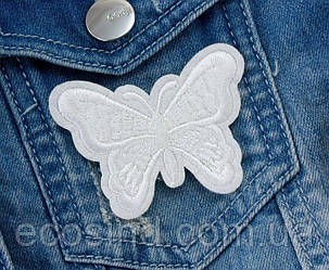 "(3шт) Термоаппликация 6,5х5см нашивка на одежду ""Бабочка"" Цена за 3шт (сп7нг-0715)"