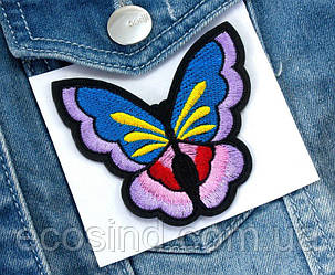 "(3шт) Термоаппликация 7,2х6,5см нашивка на одежду ""Бабочка"" Цена за 3шт (сп7нг-0732)"