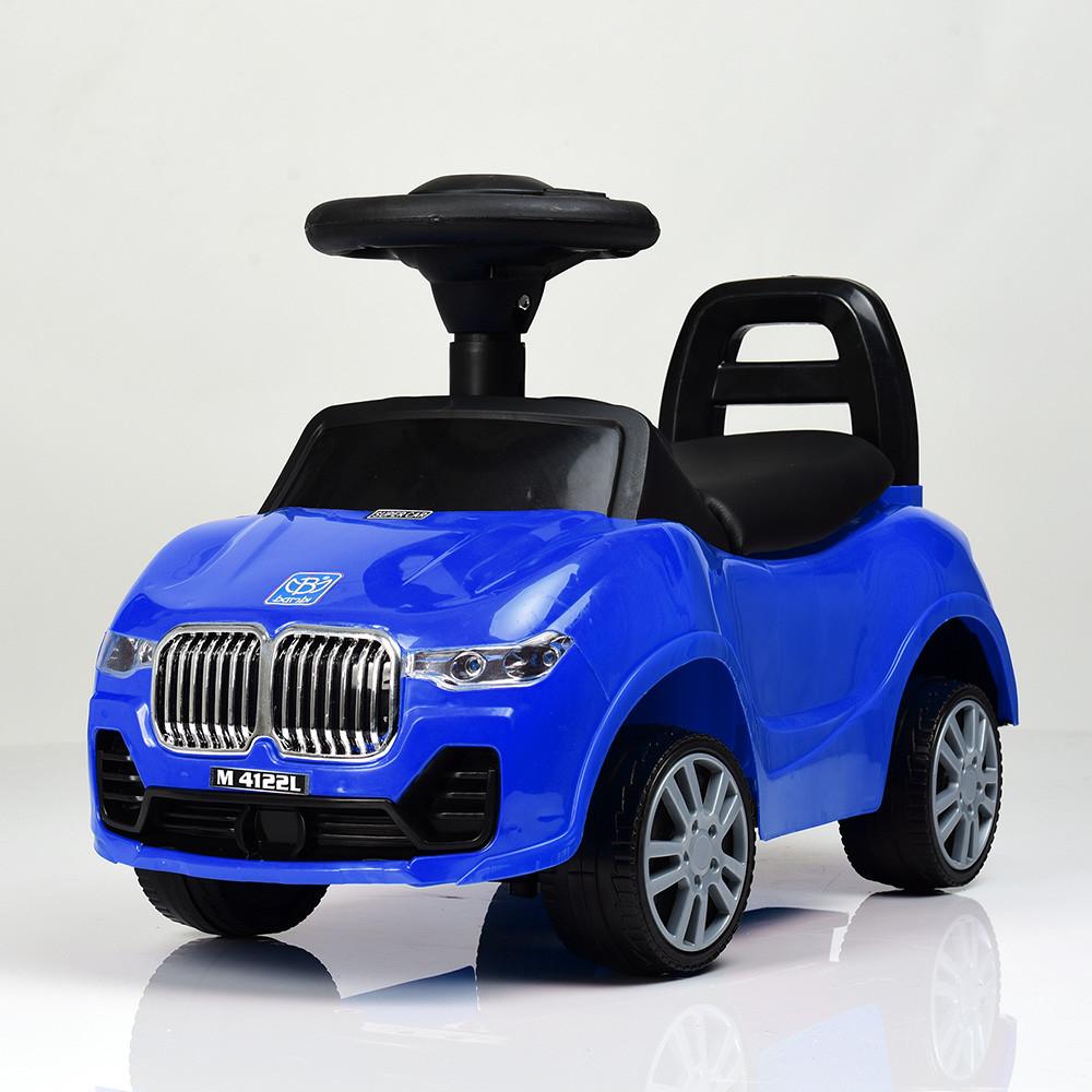 Дитяча каталка-толокар M 4122L-4 Синій Гарантія якості Швидка доставка