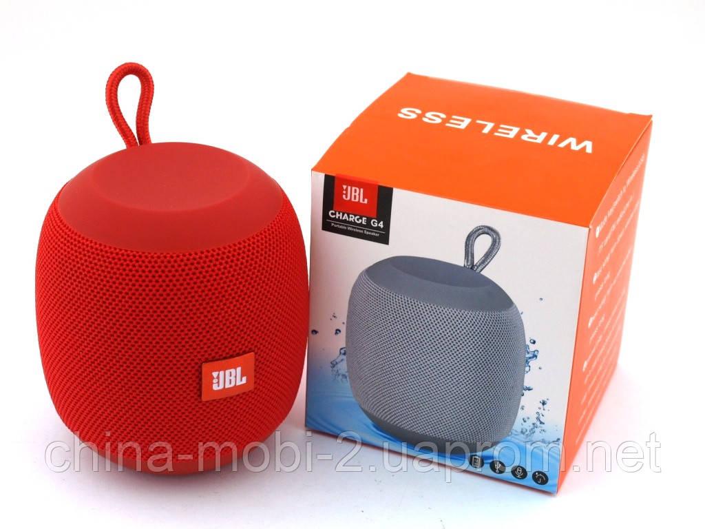 JBL Charge G4 копия, портативная колонка 3W с Bluetooth FM MP3, красная